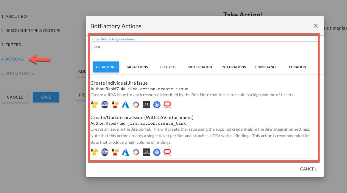 Bot Configuration - Jira Actions