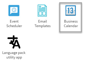 Figure 1: Business Calendar