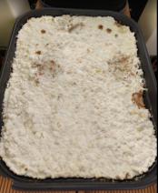 Mycélium de shiitake entièrement inoculé.