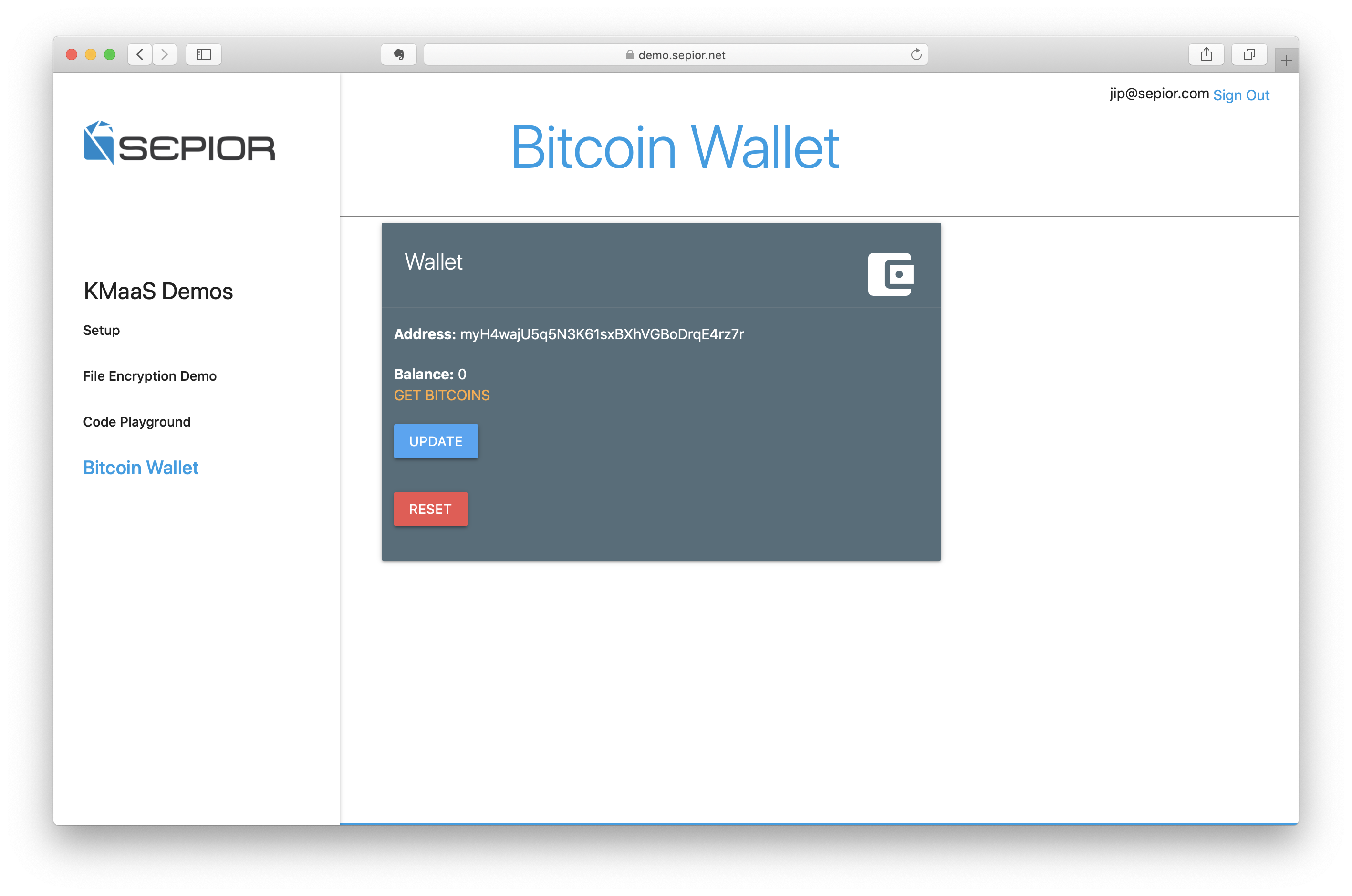 bitcoin demo