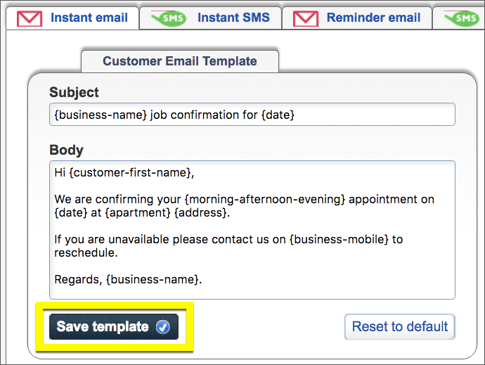 The Customer Email Template You Can Edit For Instant Emails.