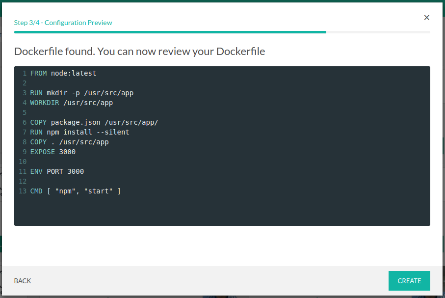 Review Dockerfile (click image to enlarge)