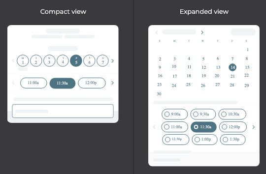Schedule-a-Meeting node - Compact vs Expanded view