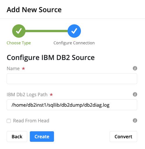 IBM DB2 Log Configuration Form