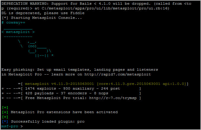 metasploit activation key