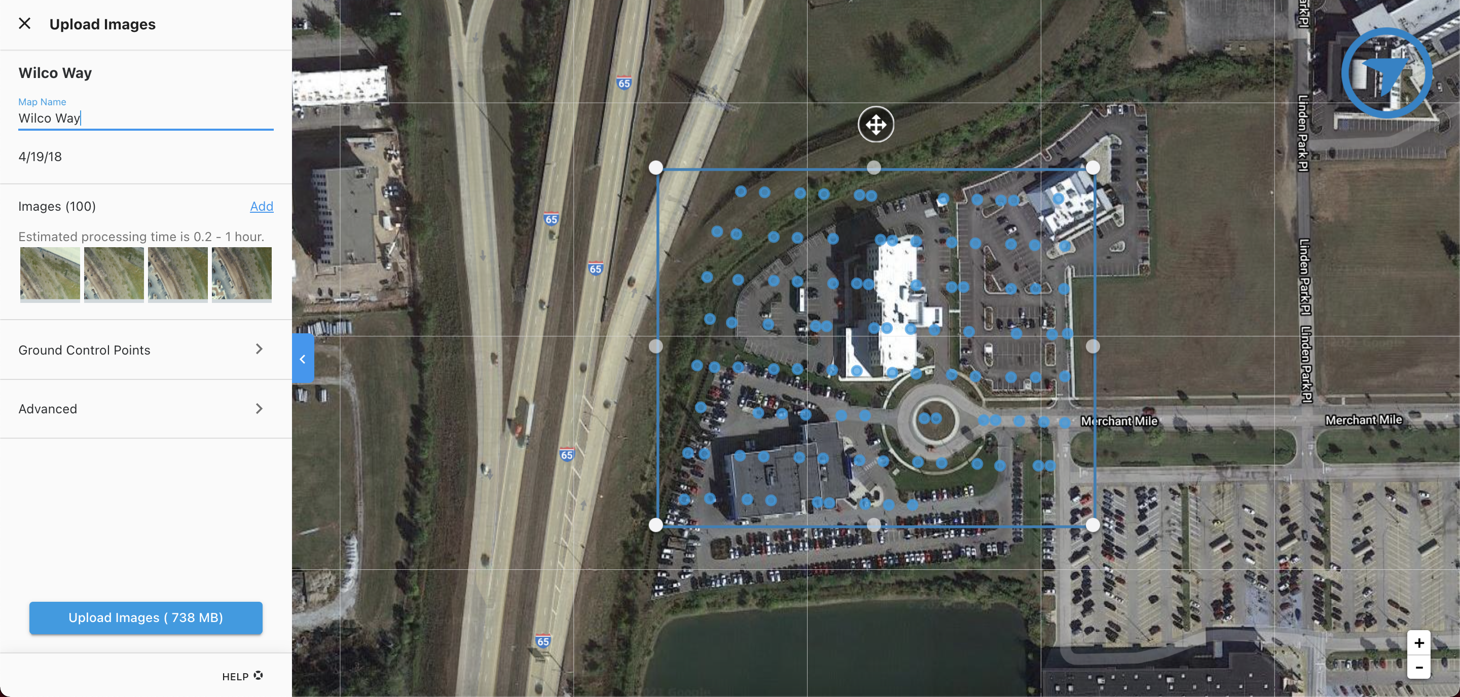 Review image locations, current boundary, and Google base map for reference.