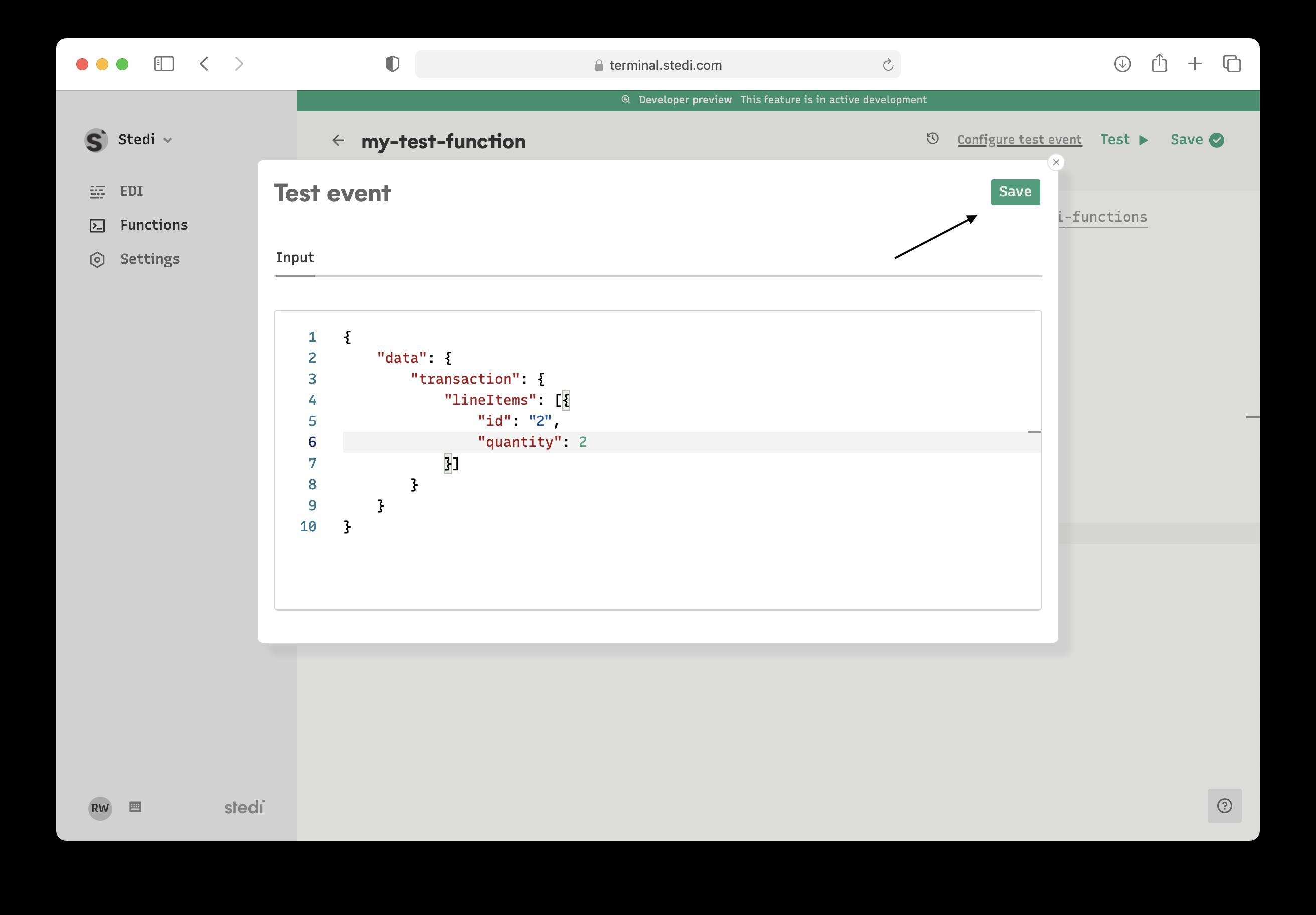 Function Define Test Event 2nd part