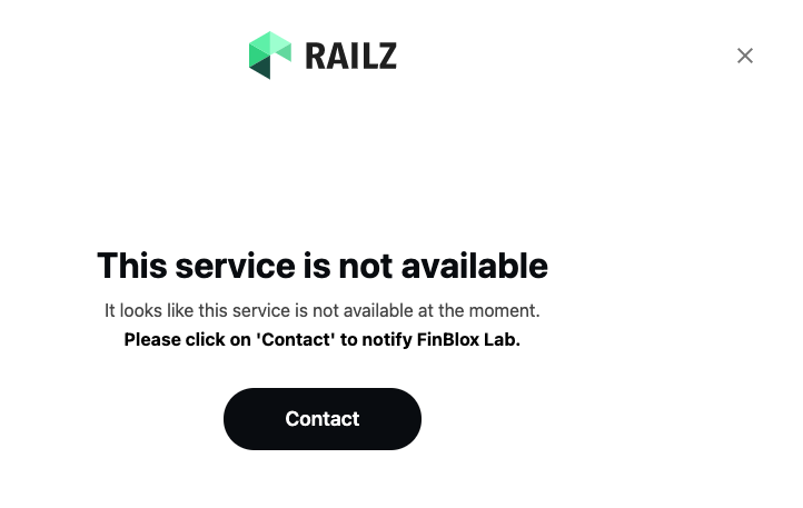 Railz Connect Not Available. Click to Expand.