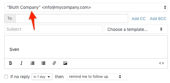 Changing From email address
