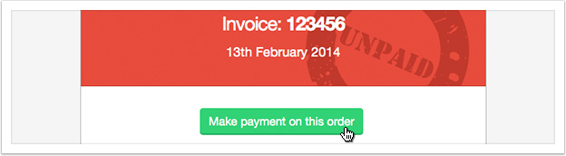 Click the 'My Invoices' link in the left hand menu