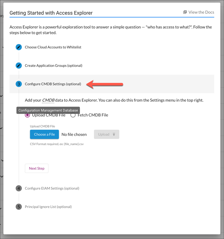 Getting Started with Access Explorer - Step 3 (CMDB)