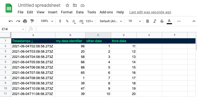 Add new columns to export multiple sources of data
