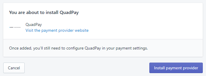 Add the Payment Gateway