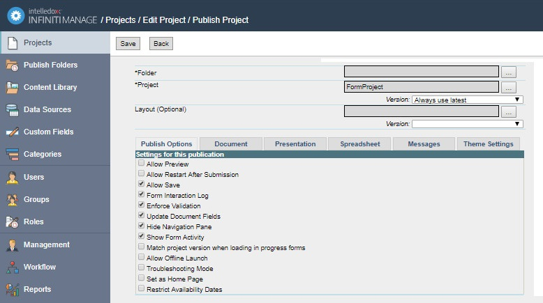 How to configure an iFrame
