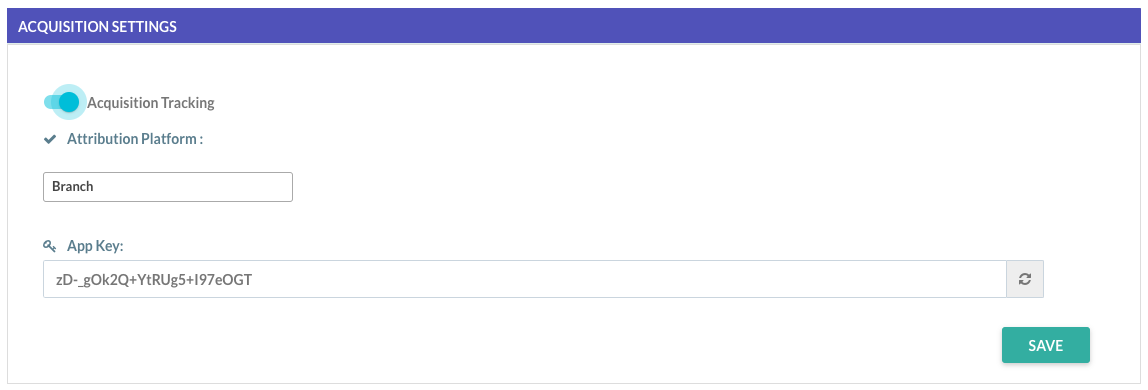 MoEngage dashboard 'App Settings'