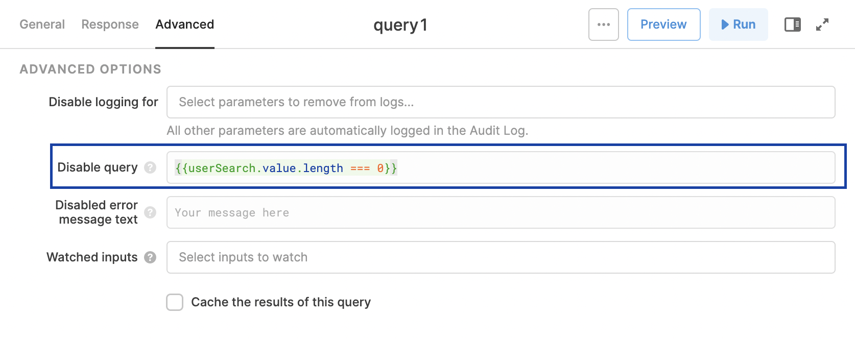 Only run a query when the second tab is active.