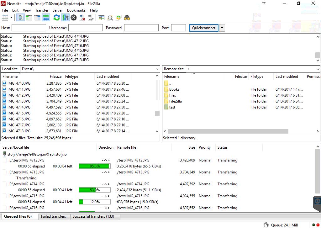 *Figure 5.2. Uploading files to a folder/bucket.*