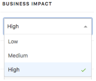 Assigning Target Business Impact