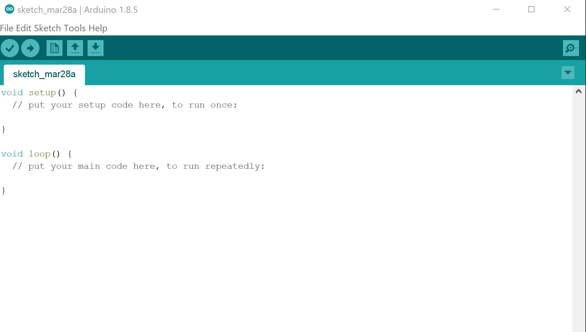 Arduino IDE new Sketch