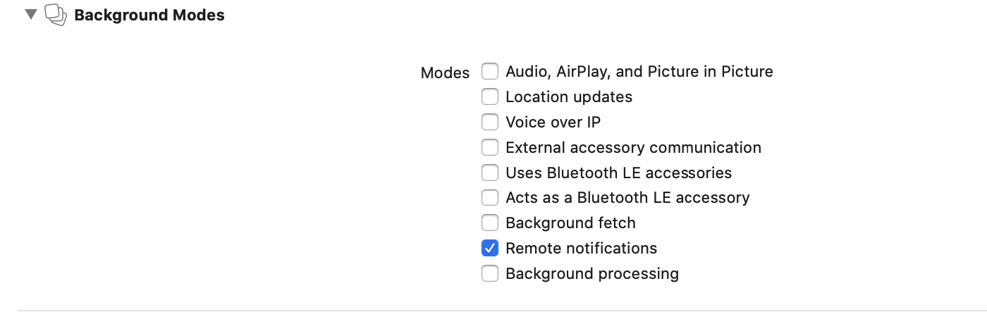 add permissions for remote notifications for ios app