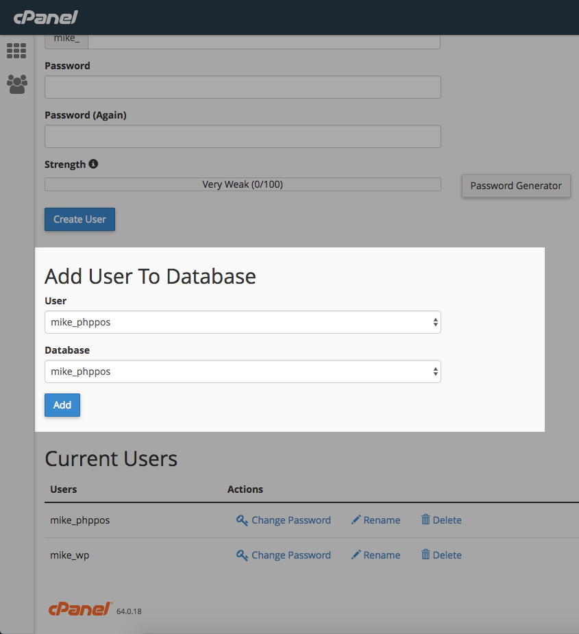 Add User to Database
