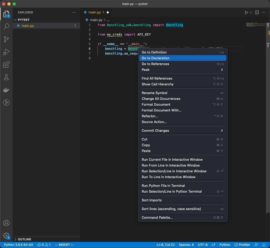 Reveal definitions and declarations of class/method names via VsCode