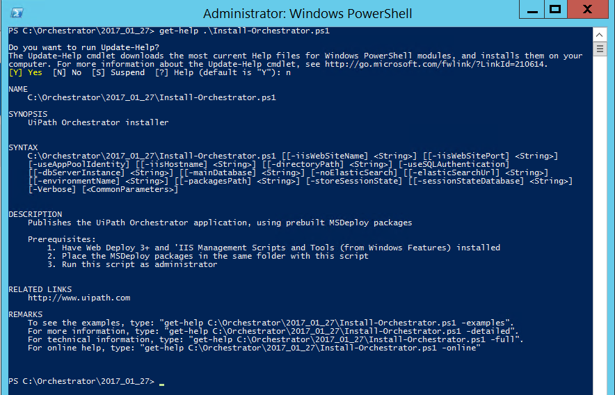 Orchestrator Server Installation