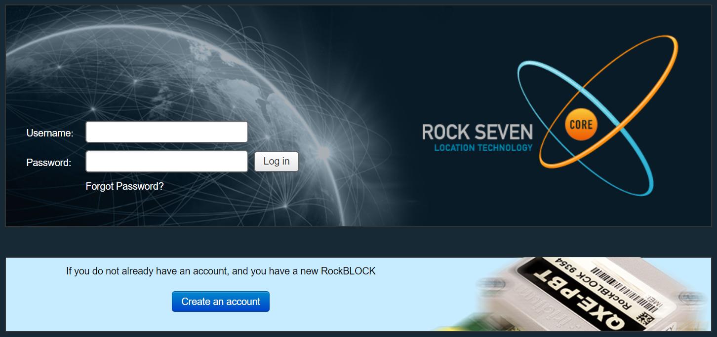 RockBLOCK Registration Page