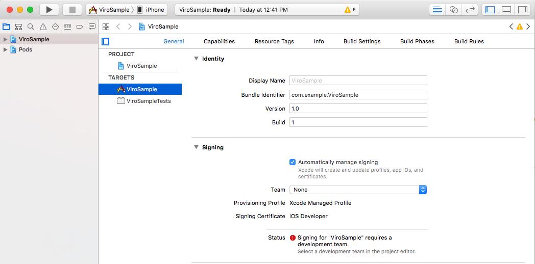 Set up Xcode with ViroReact