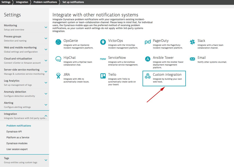 Dynatrace Webhook Integration (v2)