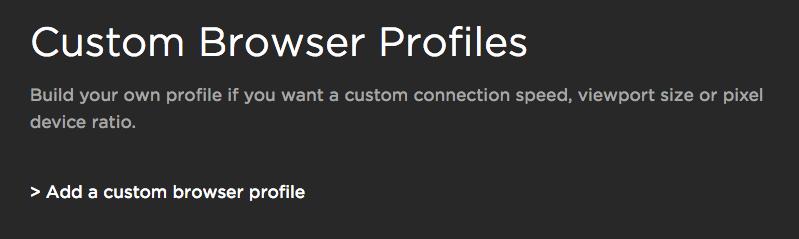 Add Custom Browser Link