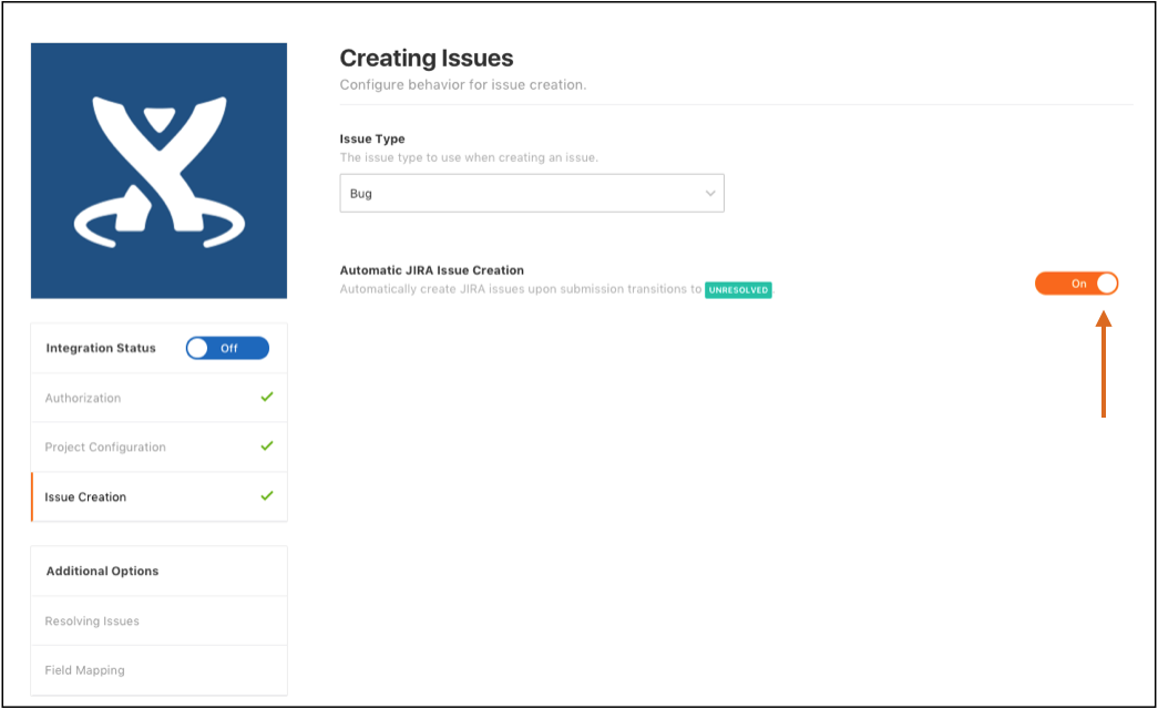 Switching on Automatic JIRA Ticket Creation