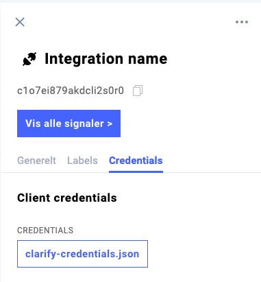 Just click the `clarify-credentials.json` button to download the json file.