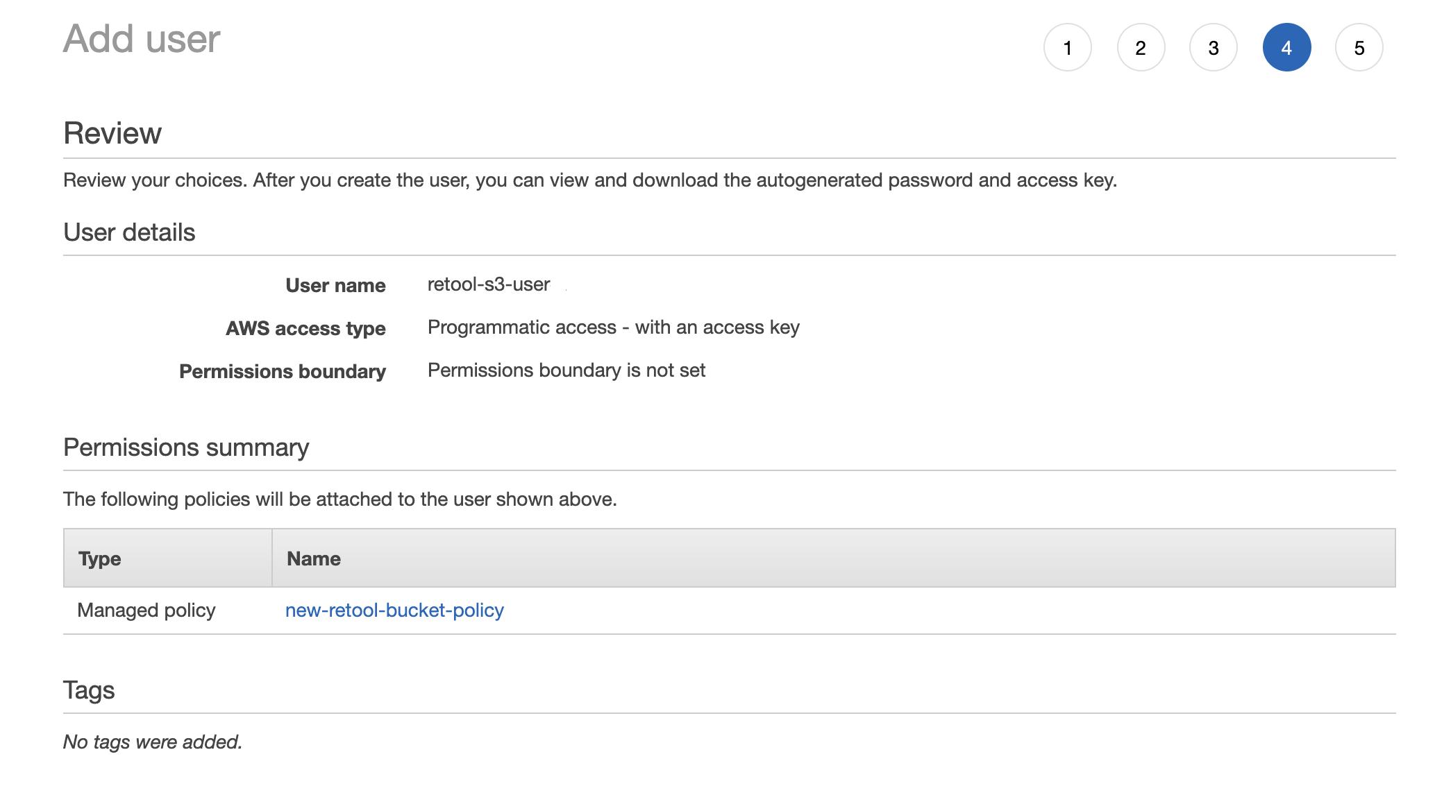 Step 4—Confirm permissions.