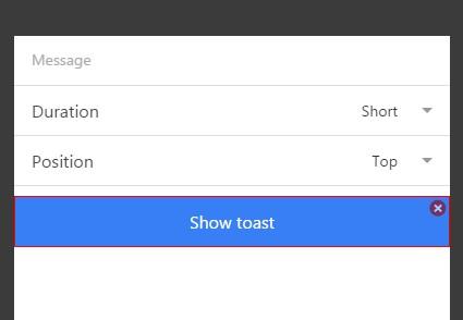 Sample Toast app.