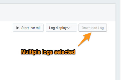Download logs greyed out