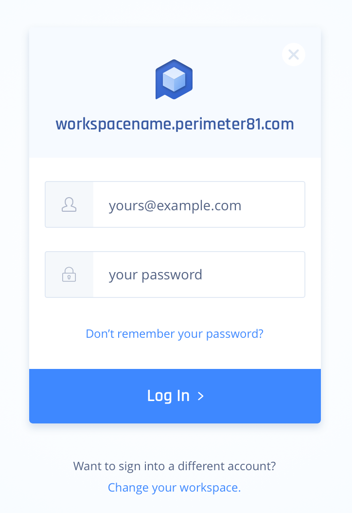 To sign in, go to https://app.perimeter81.com/login