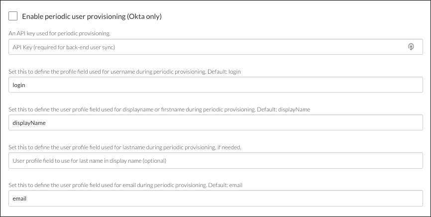 Additional SAML details