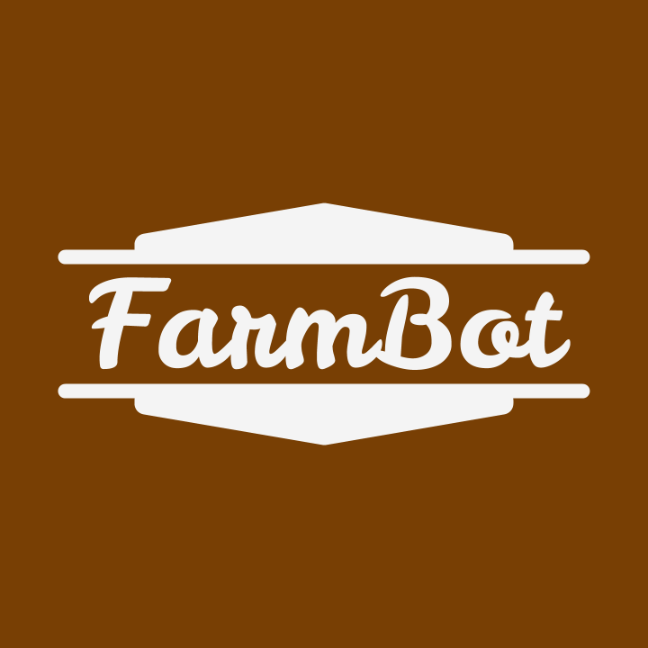 FarmBot profile image, for use in profile images. May be cropped into a circle.