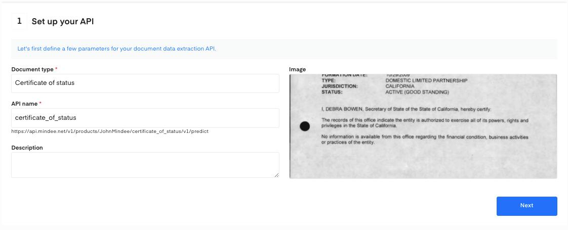 Set up your certificate of status API