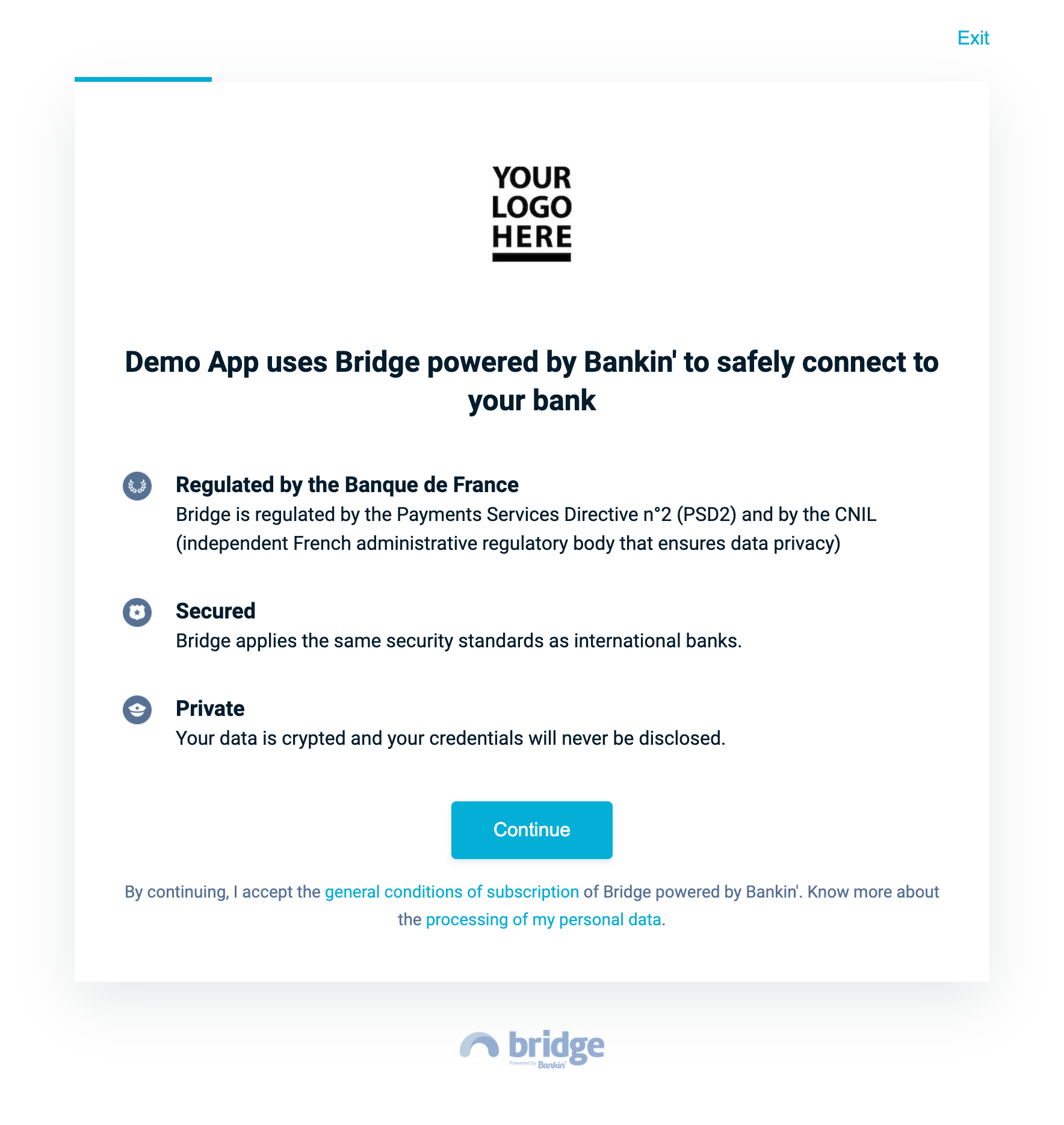 Bridge Connect Welcome Page