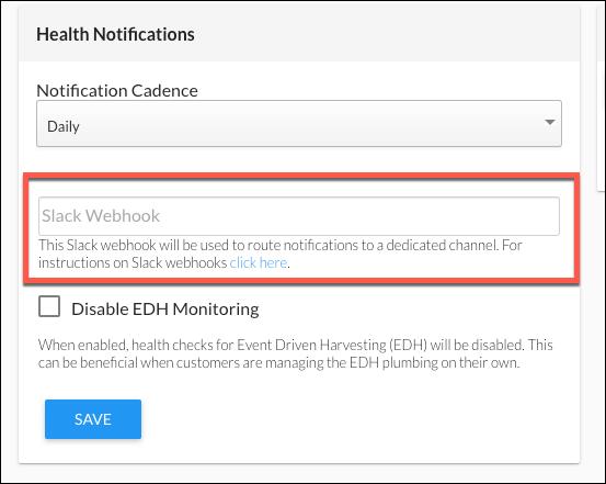 Slack WebHook for Health Notifications