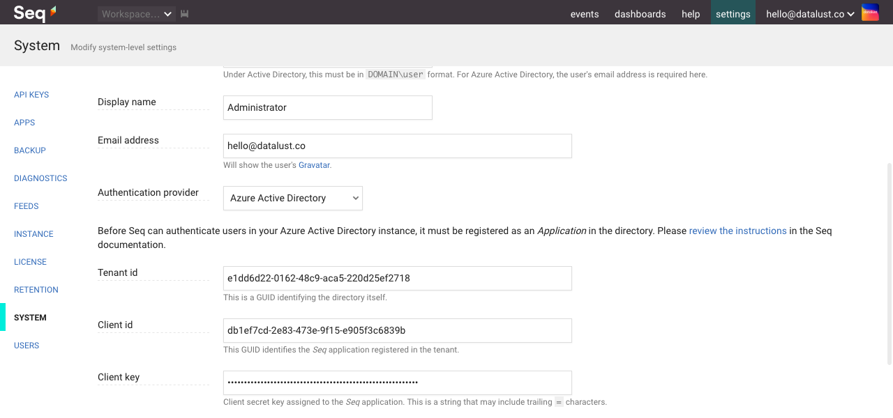 Azure Active Directory Authentication