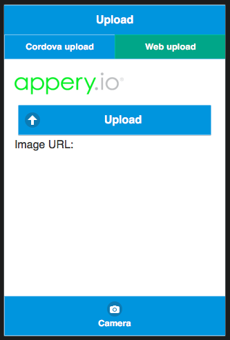 Sample app to upload a picture or a file to a database.