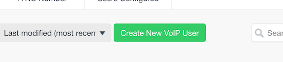 Click on the 'Create New VoIP User' button.