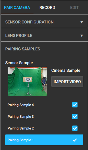 Double clicking your sample will open the Pairing Sample Preview panel.