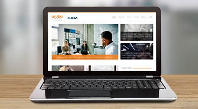 Screenshot of Aruba Blogs home page