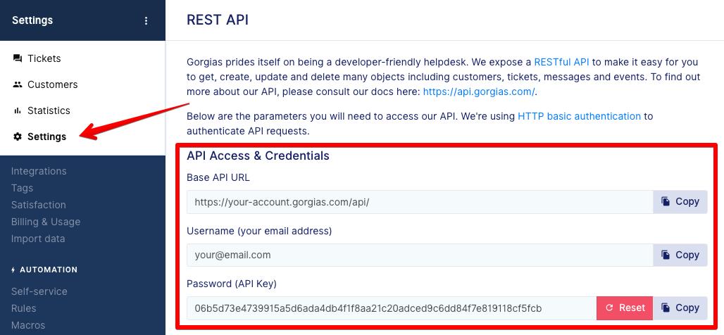 Gorgias Access Token