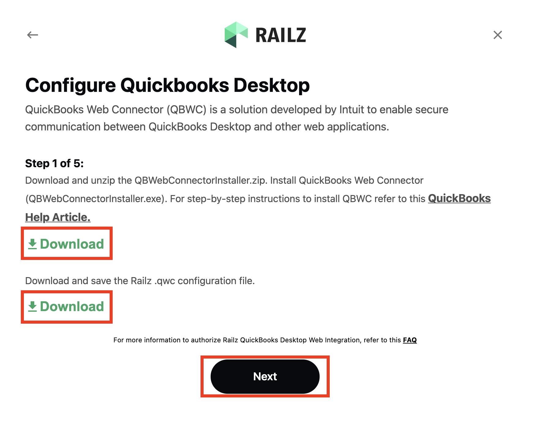 Railz Connect - QuickBooks Desktop Step 1. Click to Expand.