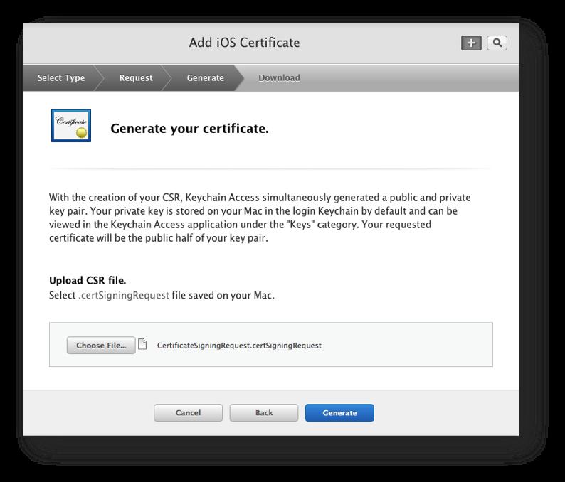 Generating the SSL certificate